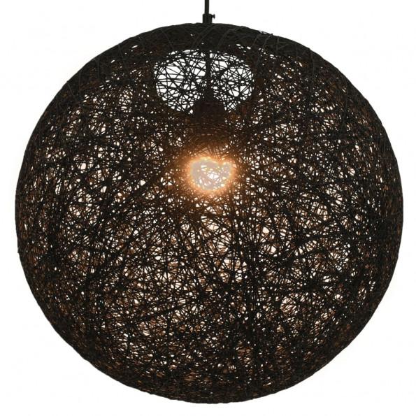 Hængelampe kugleformet 45 cm E27 sort