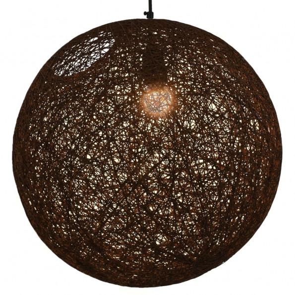 Hængelampe kugleformet 45 cm E27 brun