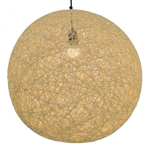 Hængelampe kugleformet 55 cm E27 cremefarvet