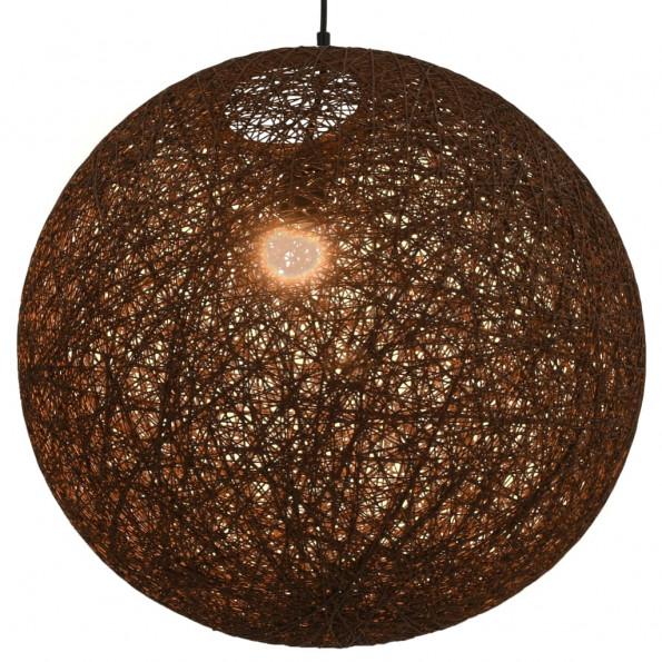 Hængelampe kugleformet 55 cm E27 brun