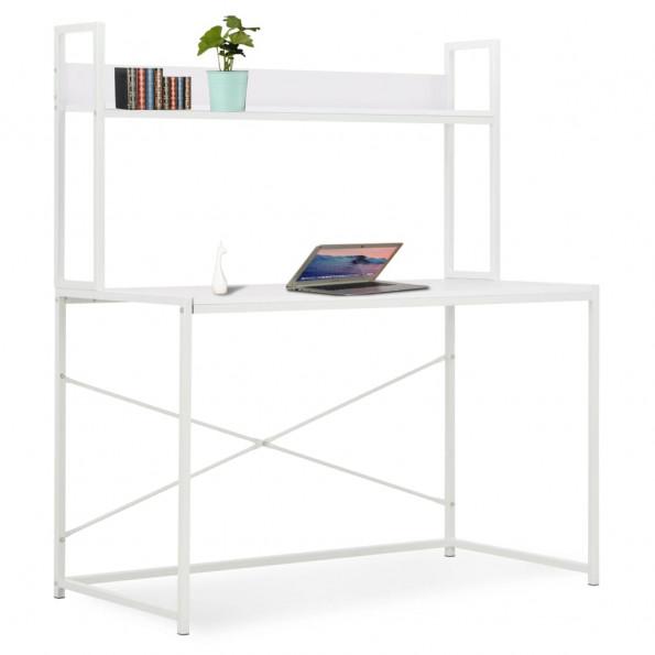 Computerbord 120 x 60 x 138 cm hvid
