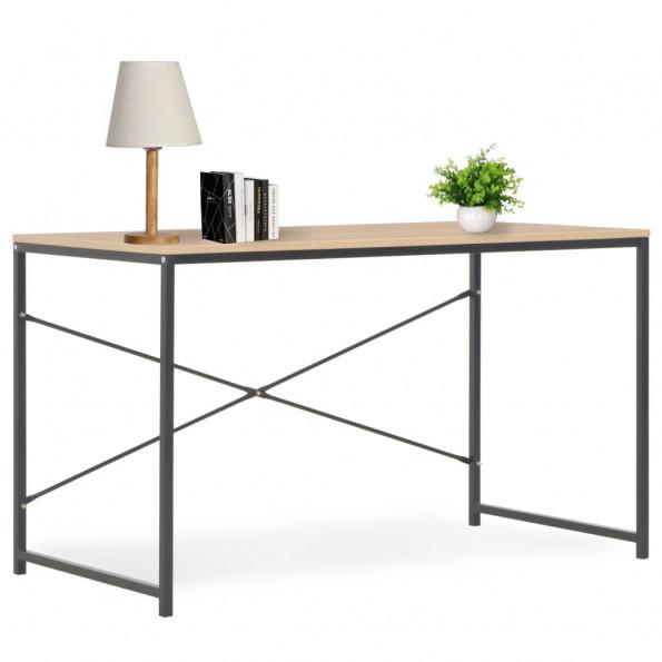 Computerbord 120 x 60 x 70 cm sort og egetræsfarvet