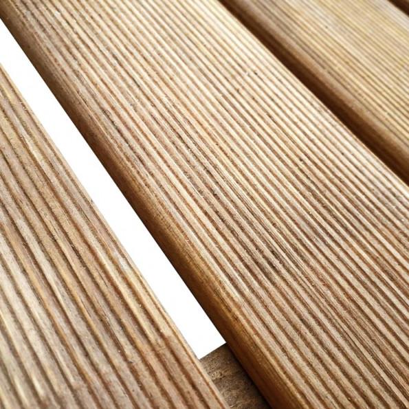 12 stk. terrassefliser 50 x 50 cm træ brun