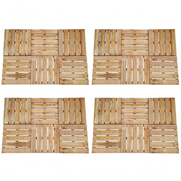 24 stk. terrassefliser 50 x 50 cm træ brun