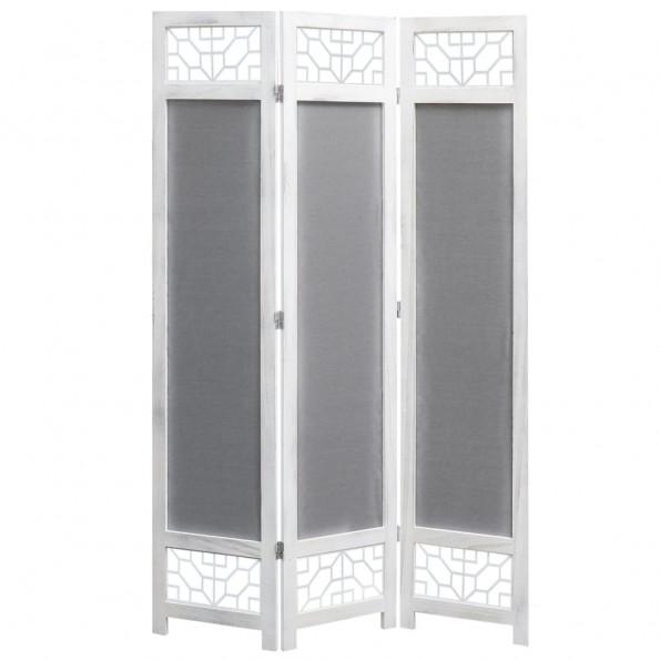 3-panels rumdeler 105 x 165 cm stof grå