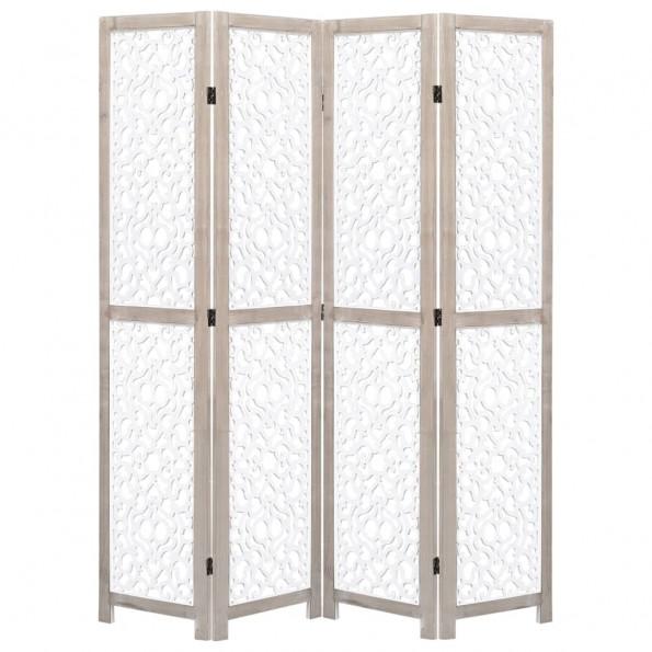 4-panels rumdeler 140 x 165 cm massivt træ hid