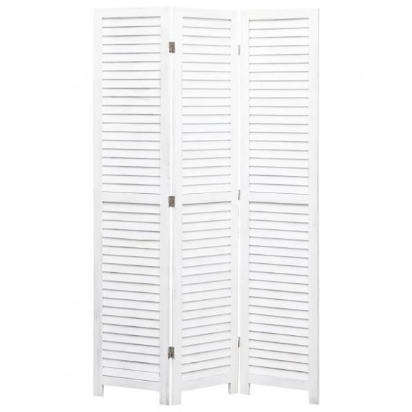 3-panels rumdeler 105 x 165 cm træ hvid