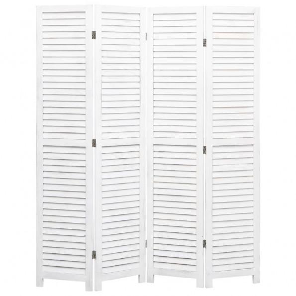 4-panels rumdeler 140 x 165 cm træ hvid
