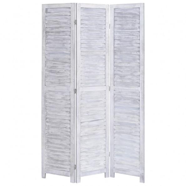 3-panels rumdeler 105 x 165 cm træ grå