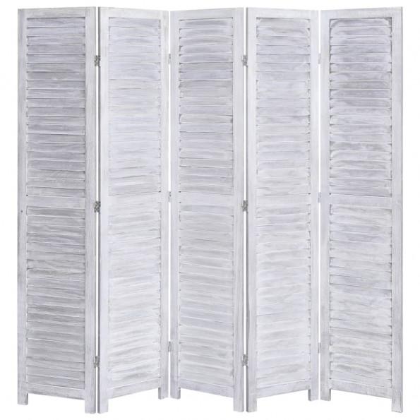 5-panels rumdeler 175 x 165 cm træ grå