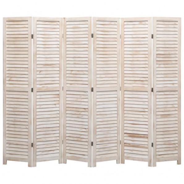 6-panels rumdeler 210 x 165 cm træ