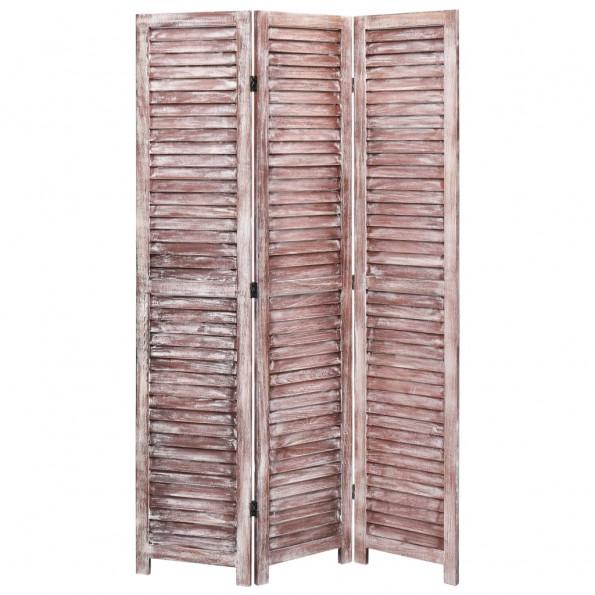 3-panels rumdeler 105 x 165 cm træ brun