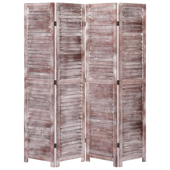 4-panels rumdeler 140 x 165 cm træ brun