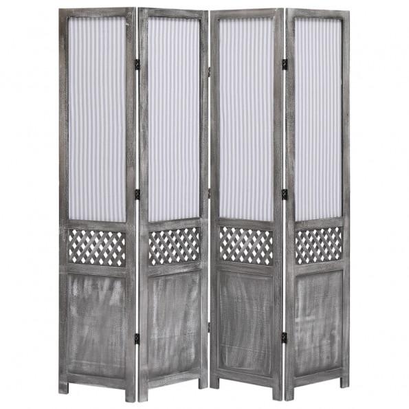 4-panels rumdeler 140 x 165 cm stof grå