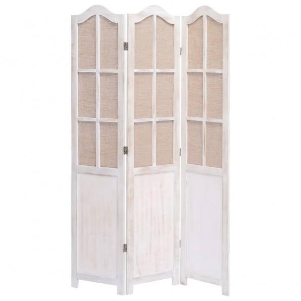 3-panels rumdeler 105 x 165 cm stof hvid