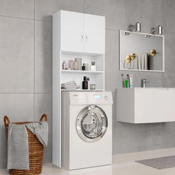 Vaskemaskineskab 64 x 25,5 x 190 cm spånplade hvid