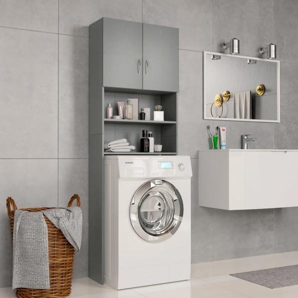 Vaskemaskineskab 64 x 25,5 x 190 cm spånplade grå
