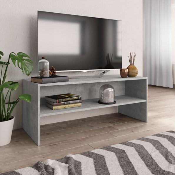Tv-skab 100 x 40 x 40 cm spånplade betongrå