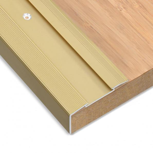 15 stk. L-formede trappelister 90 cm aluminium guldfarvet