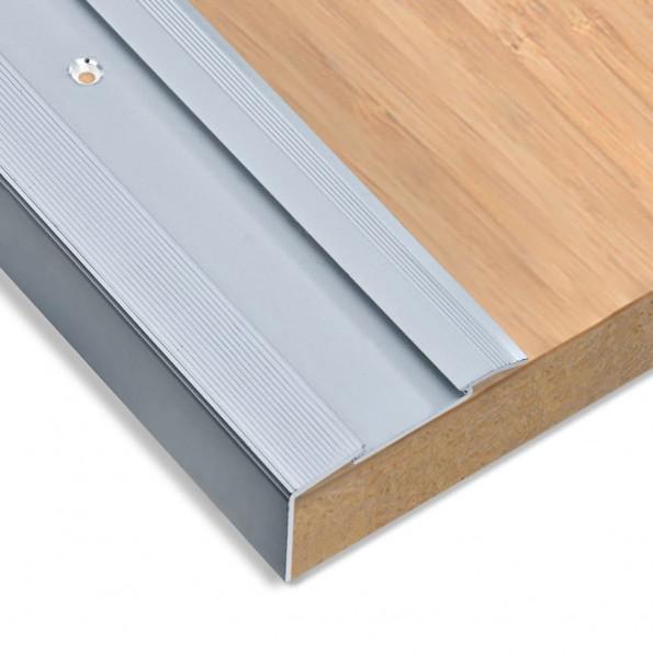 15 stk. trappelister L-facon 100 cm aluminium sølvfarvet