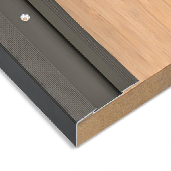 15 stk. trappelister L-facon 134 cm aluminium brun