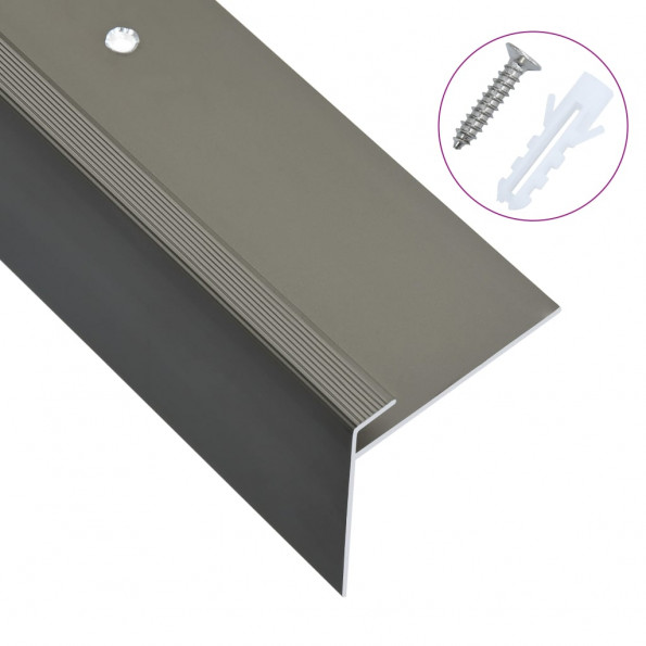 15 stk. trappelister F-facon 100 cm aluminium brun