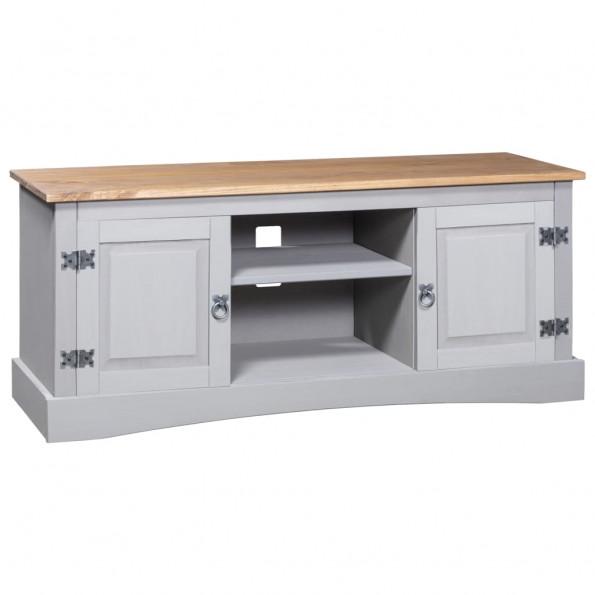 Tv-bord 120 x 40 x 52 cm fyrretræ Corona-range grå