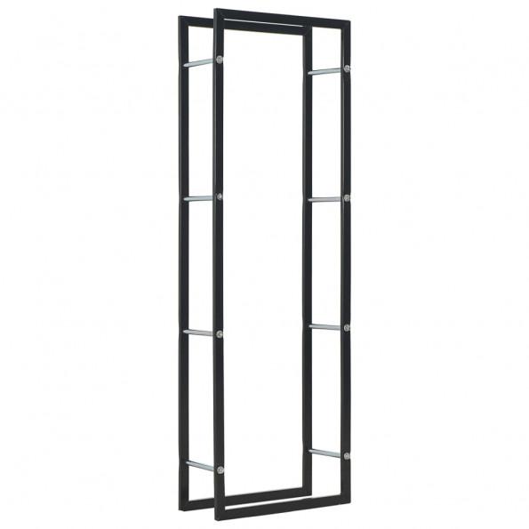 Brændestativ 50 x 20 x 150 cm stål sort