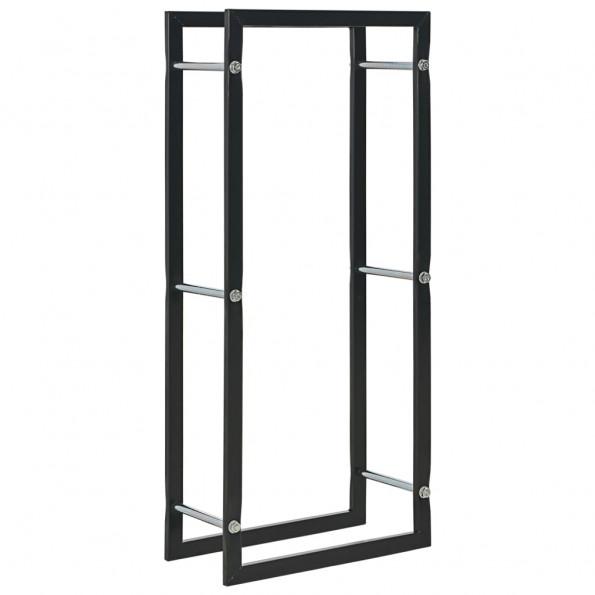 Brændestativ 44 x 20 x 100 cm sort stål