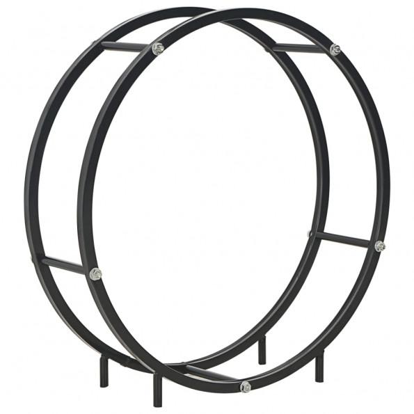 Brændestativ 70 x 20 x 70 cm stål sort