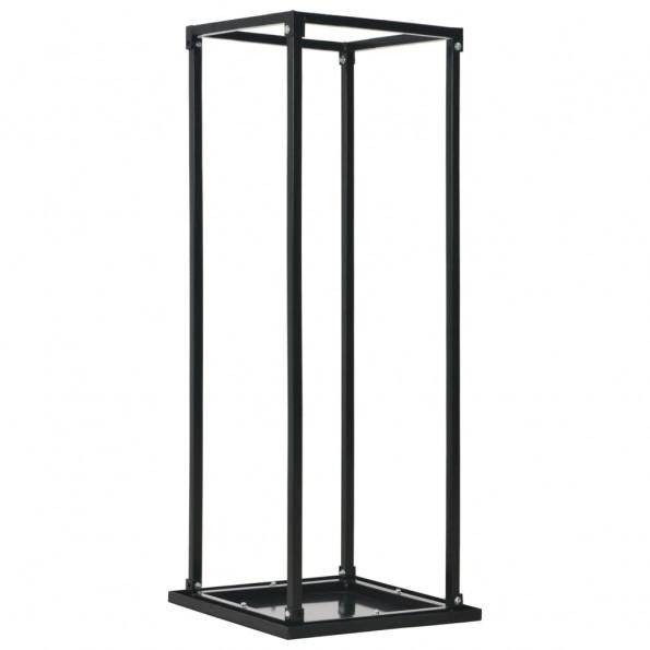 Brændestativ med bund 37 x 37 x 113 cm sort stål