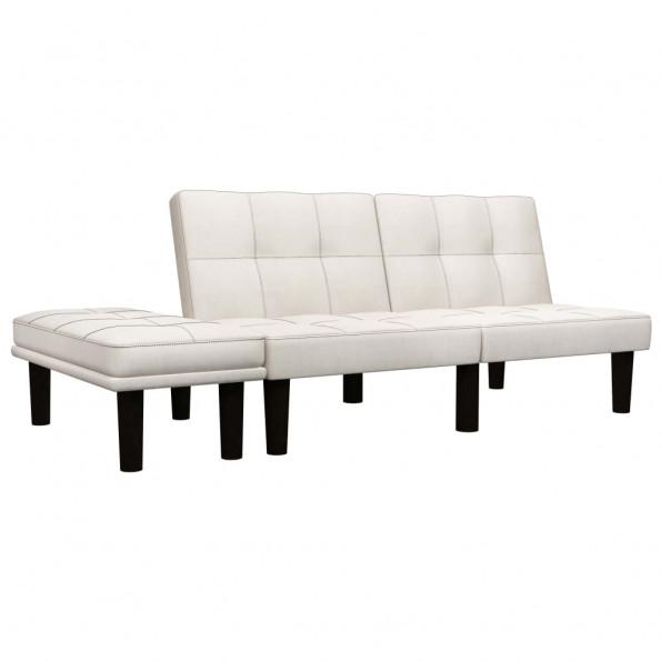 2-personers sofa stof cremefarvet