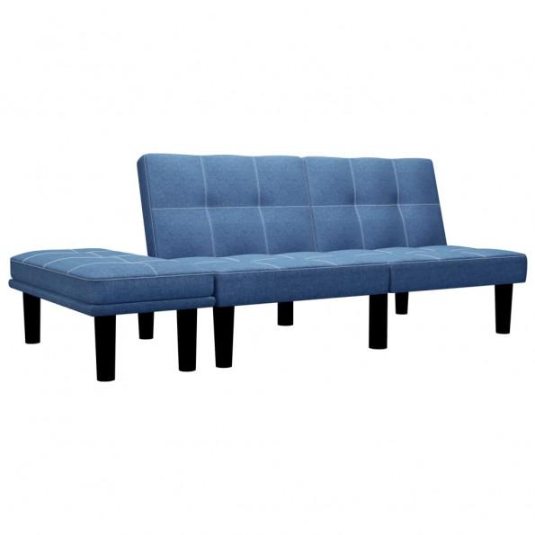 2-personers sofa stof blå