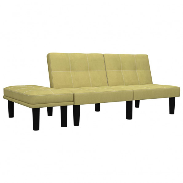 2-personers sofa stof grøn