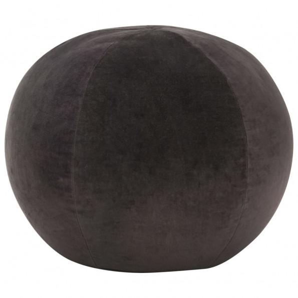 Puf bomuldsfløjl 50 x 35 cm antracitgrå