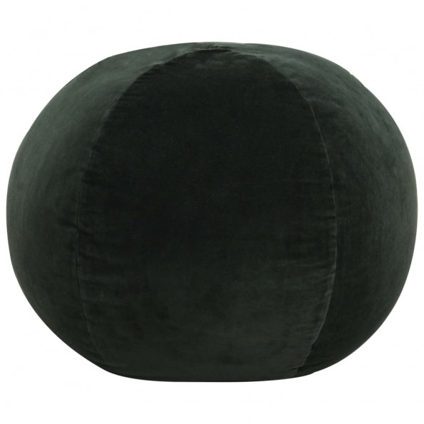 Puf bomuldsfløjl 50 x 35 cm grøn