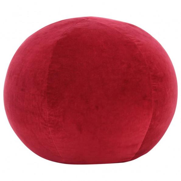 Puf bomuldsfløjl 50 x 35 cm rød