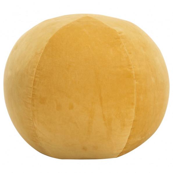 Puf bomuldsfløjl 50 x 35 cm gul