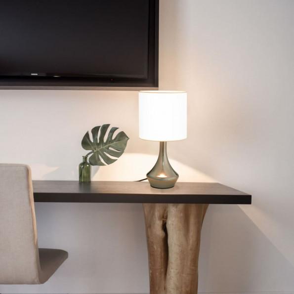 Bordlamper 2 stk. touch-knap E14 hvid