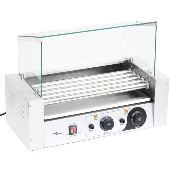 Pølsegrill 5 ruller med glasskærm 1000 W