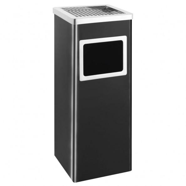 Askebæger med integreret affaldsspand 36 l stål sort