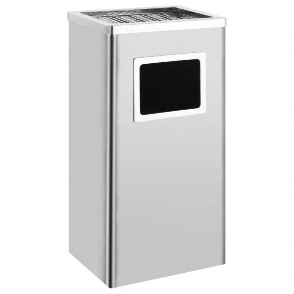 Askebæger med integreret affaldsspand 45 l rustfrit stål