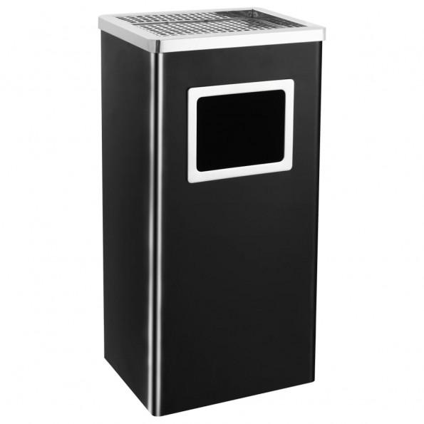 Askebæger med integreret affaldsspand 45 l stål sort