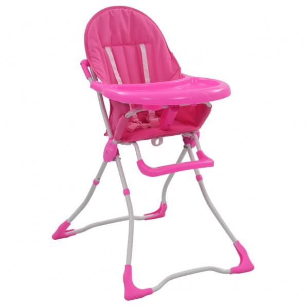 Højstol pink og hvid