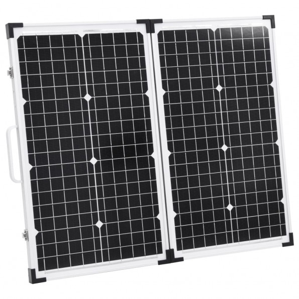 Foldbar solcellekuffert 60 W 12 V