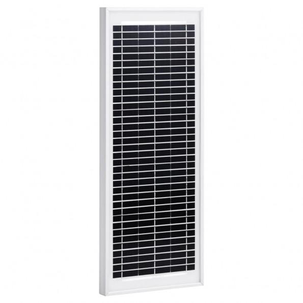 Solcellepanel 10 W polykrystallinsk aluminium og sikkerhedsglas