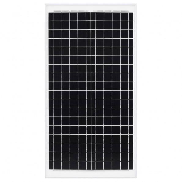 Solcellepanel 30 W polykrystallinsk aluminium og sikkerhedsglas