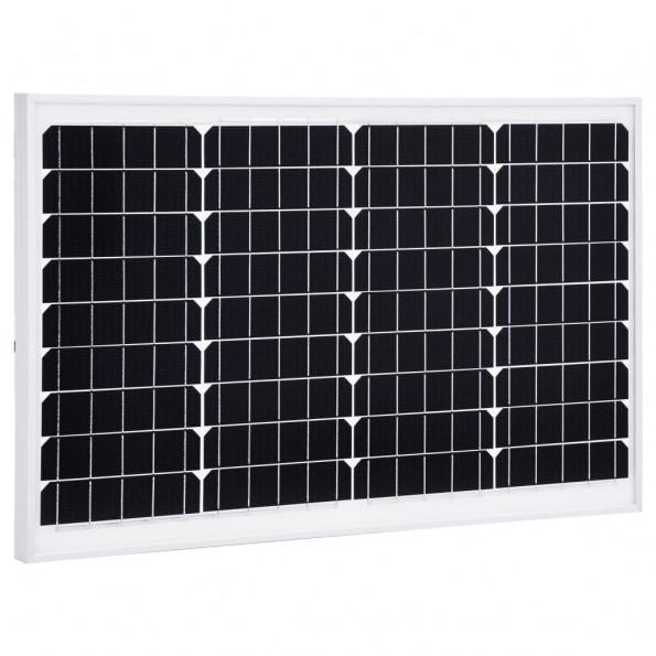 Solcellepanel 40 W aluminium og sikkerhedsglas