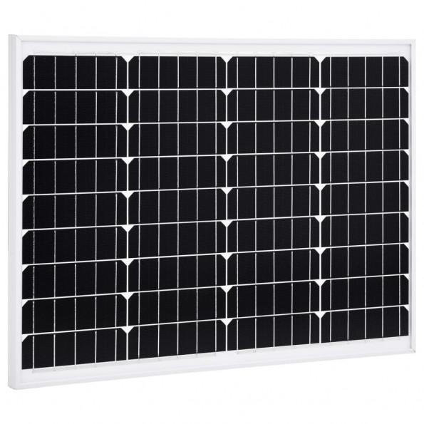 Solcellepanel 50 W aluminium og sikkerhedsglas