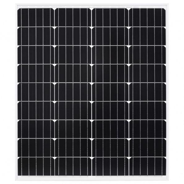 Solcellepanel 80 W aluminium og sikkerhedsglas